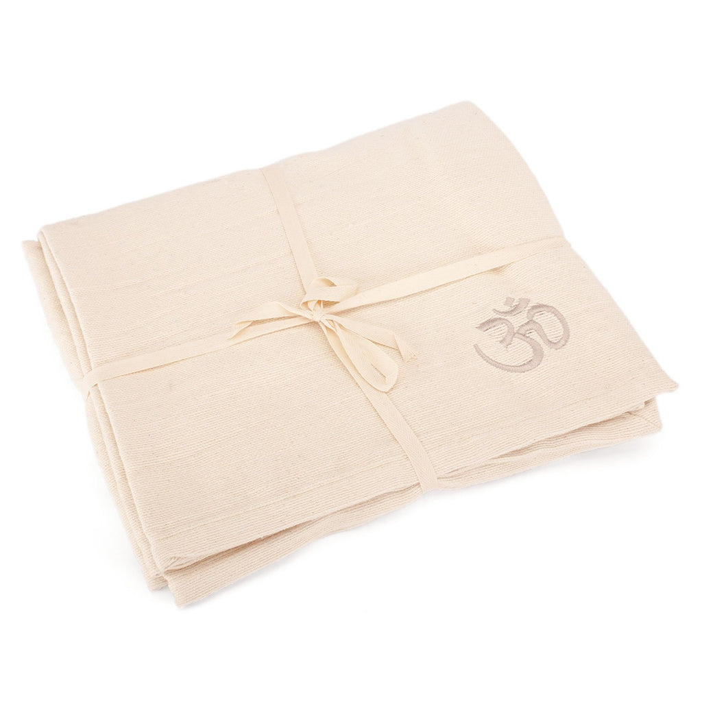 The SAVASANA Yoga Blanket - Cotton Ecru - Bodynova Shop