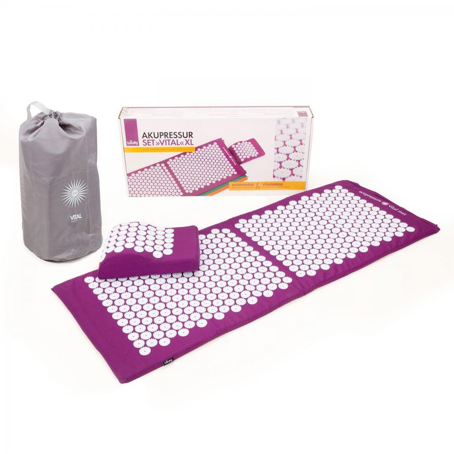 VITAL Acupressure Mat & Cushion Set (XL) in Aubergine - Bodynova Shop