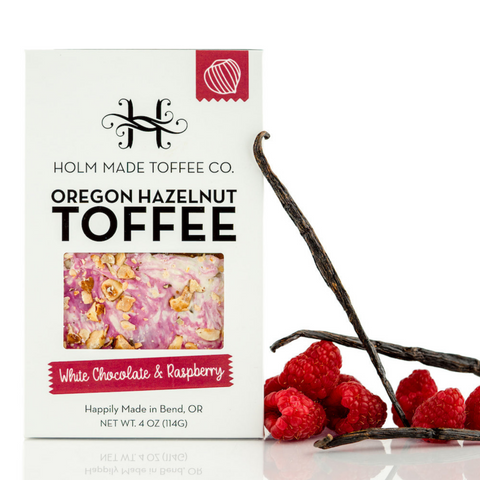 White Chocolate Raspberry Hazelnut Toffee