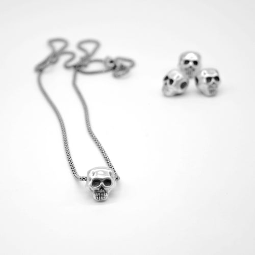 Collar calavera de plata - HAPPY SKULL -