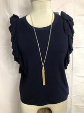 Load image into Gallery viewer, Women Size M Navy HE Top