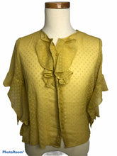 Load image into Gallery viewer, Women Size M Mustard HE Blouse