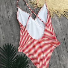 Load image into Gallery viewer, Striped swimsuit