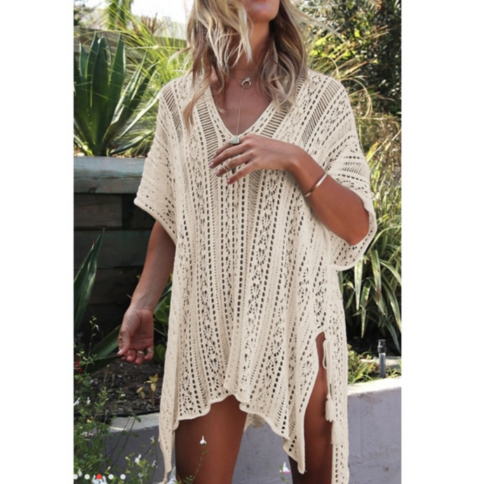 Crochet knit coverup