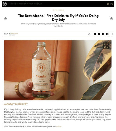 The Best Alcohol–Free Drinks to Try If You're Doing Dry July
