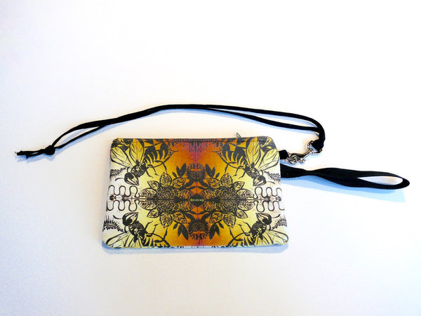 Cheri Ellis Bee Story Zip Purse - Tribal Bee - Anima Mundi
