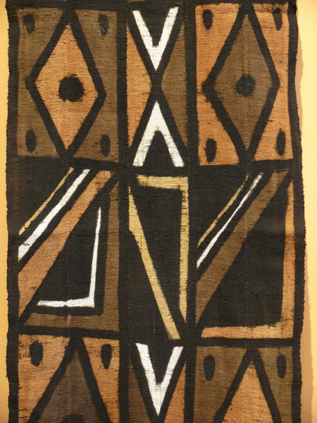 Bogolanfini Mud Cloth Runner, Burkina Faso - Diamond Cross pattern - Anima Mundi - 2