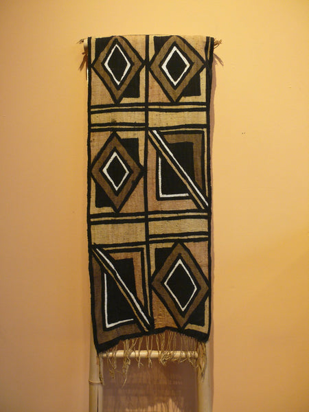 Bogolanfini Mud Cloth, Burkina Faso - Bold Diamonds - Anima Mundi