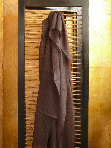 Extra-fine Cashmere Wrap Chocolate Brown - Anima Mundi