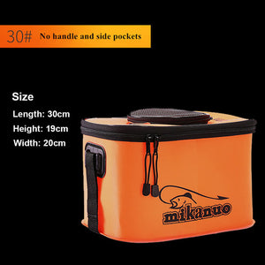 Handing Outdoor Portable Plastic fishing Bucket Live Fish Box sea waterproof Bucket Fishing accessories Fishing Bags