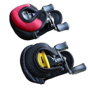Portable Fishing Casting Reel Bag Fishing Lure Drum Reels Protection Casing Jacket Elastic Bags Wheel Bag Accessories