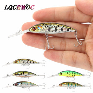 NEW Minnow 5g 5cm bass deep diving fishing lure small ice fish swimbait whopper plopper crankbait trout lure pesca japan tackle