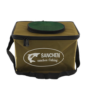 ilure Good deal Fishing Bag color random  Fabric Portable Canvas square Fish Bucket Tackle Box Water Pail for Fishing