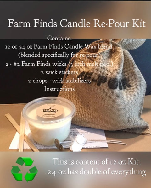 How to pour your Farm Finds Candles Re-pour Kit
