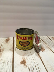 Yellow Revelation Tobacco Tin - Choose your own fragrance
