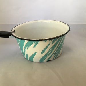 Vintage Blue and White Swirl Granite Pan - Choose your own fragrance