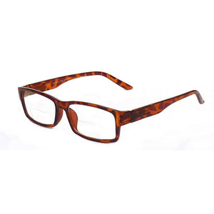 Deuce Bifocal Readers with Case by VisAcuity; Tortoise Shell