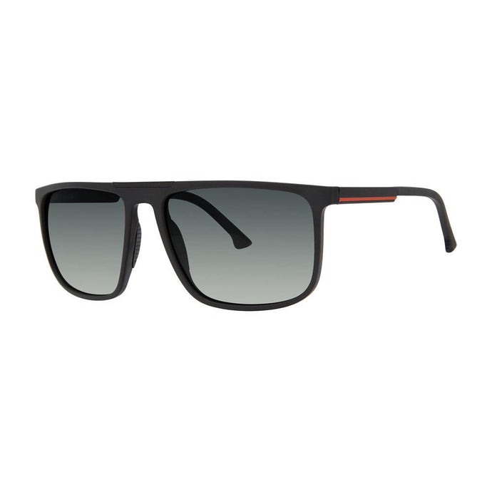 Bondi Optical Sunglasses with Soft Pouch, Black + Red