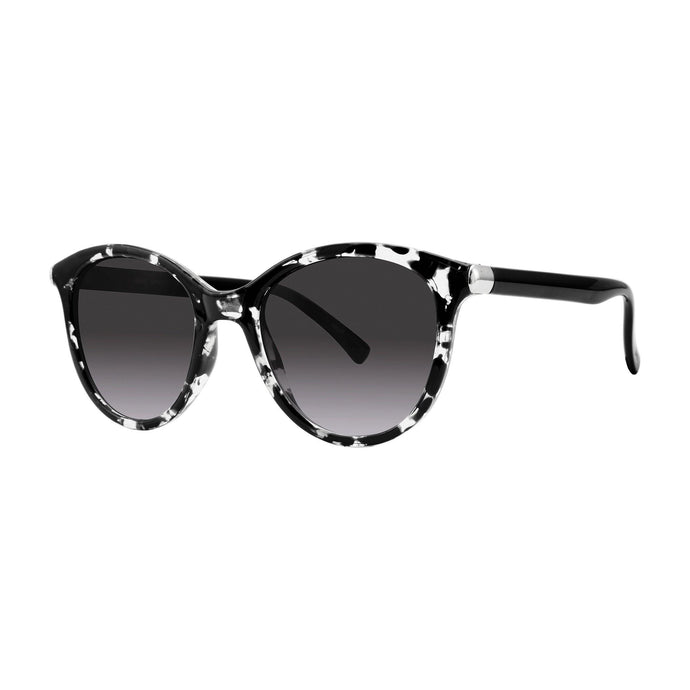 Clearwater Round Optical Sunglasses with Soft Pouch, Black Marble