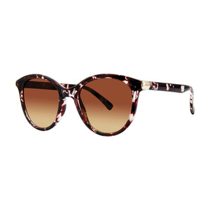 Clearwater Round Optical Sunglasses with Soft Pouch, Brown Marble