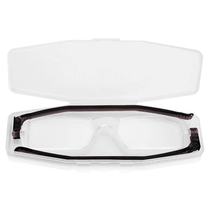 Nannini Compact 1 Italian Made Folding Reading Glasses with Case; Gloss Black