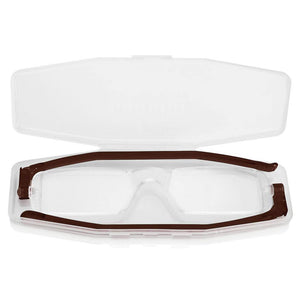 Nannini Compact 1 Italian Made Folding Reading Glasses with Case; Brown - ReadingGlasses.CO/