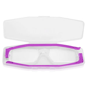 Nannini Compact 1 Italian Made Folding Reading Glasses with Case; Violet