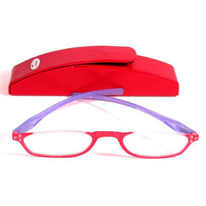 Topless Designer Half Readers for Women with Coordinated Case; by Seeqa  [2.50 diopters]
