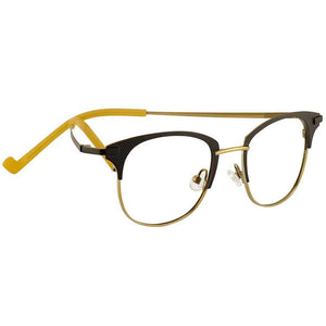 Siobhan Ophthalmic-grade Reading Glasses with Case; Matte Black/champagne