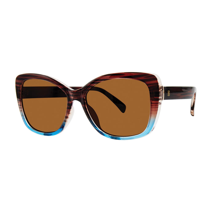 Sunrise Optical Sunglasses with Soft Pouch, Tortoise + Blue