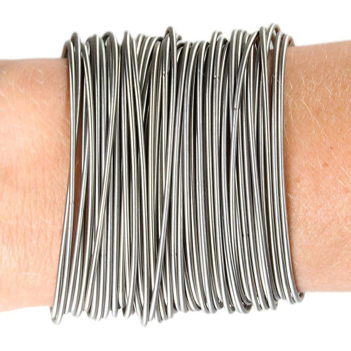 Real Guitar String Bracelet: With 50 Stretchy Stainless-steel Strings!