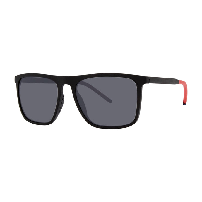 3/4 view, Cannon Optical Sunglasses, Black + Red