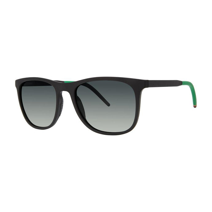 Cannon Optical Sunglasses with Soft Pouch, Black + Lime