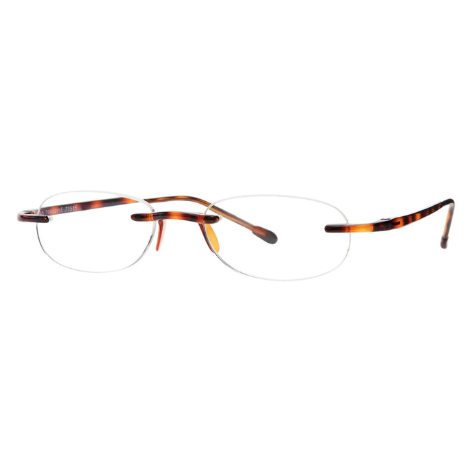 Gels tortoise reading glasses in by Scojo New York, 3/4 view