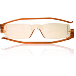 Nannini Compact 1 Italian Made Folding Computer Glasses with Case; Amber