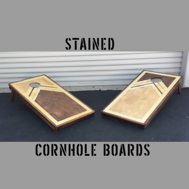 Stained Cornhole Boards