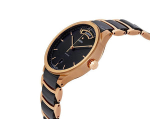 Rado Centrix Automatic Gold plated and Ceramic black wrist watch