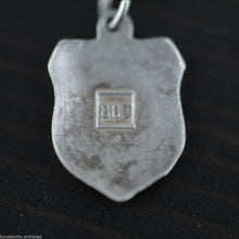 Load image into Gallery viewer, Vintage enamel solid silver charm pendant BARCELONA rare SPAIN 800 nice gift