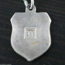 Load image into Gallery viewer, Vintage enamel solid silver charm pendant MADRID rare SPAIN 800 nice gift
