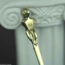 Load image into Gallery viewer, Antique 1808 gold plated solid silver 20 Kreuzer coin spoon Franciscvs Austrian Empire 800