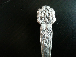 Vintage solid silver spoons Italy eagle 900 Sterling great gift