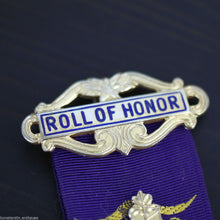 Load image into Gallery viewer, Vintage 1975 solid silver gold plated medal Birmingham RAOB Roll of Honor