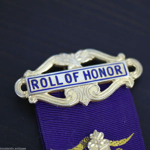 Vintage 1975 solid silver gold plated medal Birmingham RAOB Roll of Honor