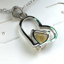 Load image into Gallery viewer, Sterling silver Citrine stone pendant on chain 925 Chateau Montreal