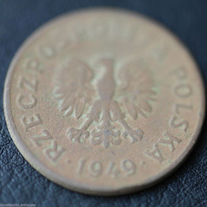 Vintage 1949 coin 50 grosze President Bolesław Bierut of Republic of Poland 20th