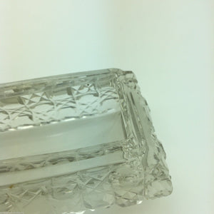 Antique 1904 sterling silver topped cut glass trinket box