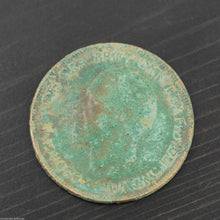 Load image into Gallery viewer, Vintage 1929 coin One penny George V Great Britain Bronze with patina nice gift