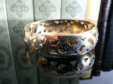 Load image into Gallery viewer, Vintage 1961 solid silver gold plated Niello bangle Russian bracelet 875