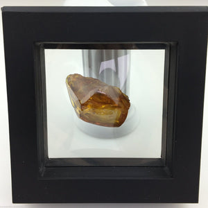Genuine Baltic Amber stone with Inclusion in display frame