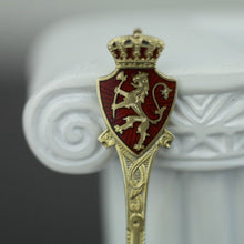 Load image into Gallery viewer, Antique sterling silver gold plated enamel spoon Norway David Andersen